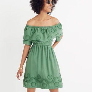 Madewell Appliquéd Off-the-Shoulder Dress